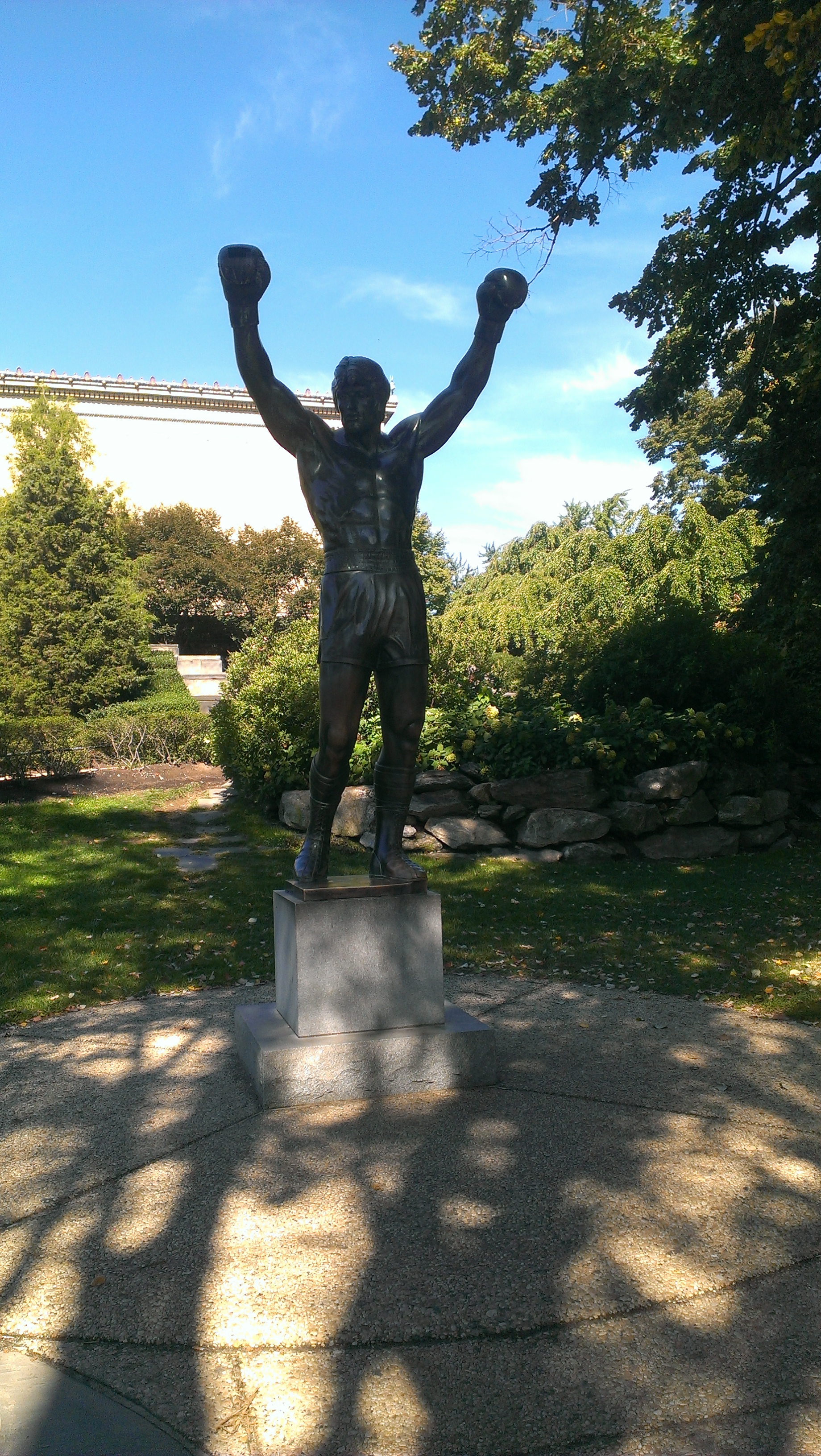 Rocky Statue Moved
